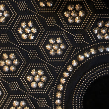 Load image into Gallery viewer, A CUTE 1970s BLACK SHOPPER WITH GOLD BEDAZZLING