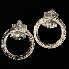 Load image into Gallery viewer, GIANT DIAMANTÉ HOOP CUFF EARRINGS