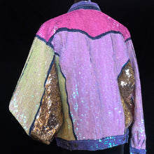 Load image into Gallery viewer, A HAND SEQUINNED TARMAFIA PASTEL JACKET