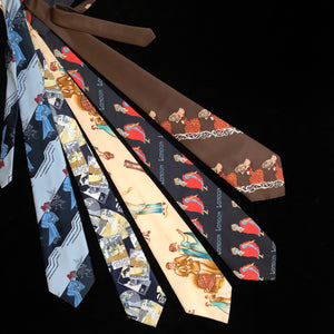 AN EDWARDIAN THEMED 70s PICTURE TIE COLLECTION