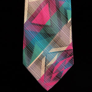 AN EARLY 90s VINTAGE MISSONI AZTEC STRIPE TIE