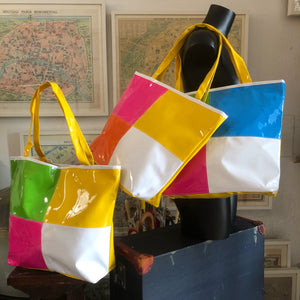 ORIGINAL 1980s PATENT SPLICED TOTE