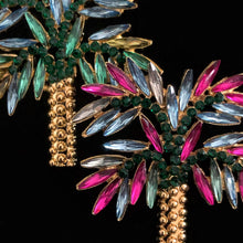 Load image into Gallery viewer, JEWELLED PALM TREE EARRINGS