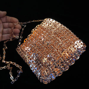 METAL LINK CHAIN MAIL SHOULDER BAG