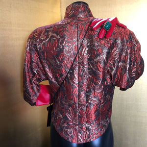 A VALENTINO 80s COPPER BROCADE JACKET