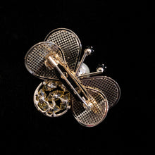 Load image into Gallery viewer, A STYLISED BEE BROOCH WITH MESH WINGS