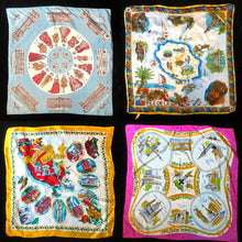 Load image into Gallery viewer, A COLLECTION OF SIX VINTAGE TOURIST SCARVES