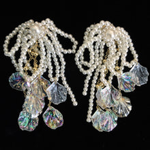 Load image into Gallery viewer, UNDER-THE-SEA ENCHANTED GOSSAMER PEARL EARRINGS
