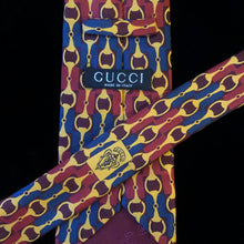 Load image into Gallery viewer, LURID SNAFFLE PRINT VINTAGE GUCCI TIE