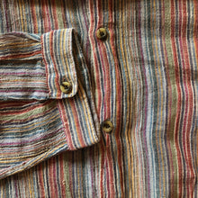 Load image into Gallery viewer, A PALE STRIPE INDIAN COTTON 90s GRANDPA SHIRT