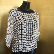 Load image into Gallery viewer, GOLD DAISY LACE TOP WITH PEARLS