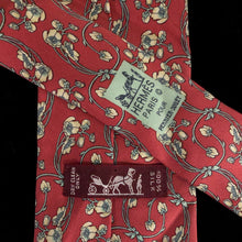 Load image into Gallery viewer, HERMES 90s TIE WITH ART NOUVEAU PRINT