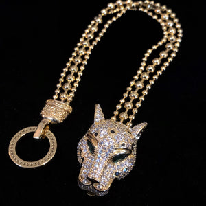 A BIG CAT DIAMANTÉ AND CHAIN COLLECTION