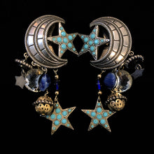 Load image into Gallery viewer, FRENCH 80s CELESTIAL CLIP ON EARRINGS