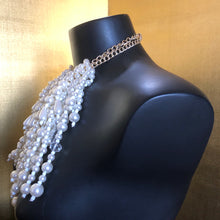 Load image into Gallery viewer, A PEARL AND BEADED WATERFALL NECKLACE