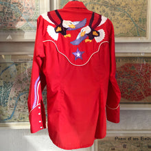 Load image into Gallery viewer, A VINTAGE 80s HAND APPLIQUÉ COWBOY SHIRT