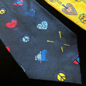 A COLLECTION OF VINTAGE MOSCHINO SILK TIES