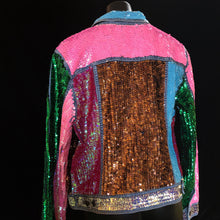 Load image into Gallery viewer, A TARMAFIA VIVID HAND SEQUINNED JACKET