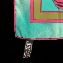 Load image into Gallery viewer, A VINTAGE 80s LANVIN SILK SHELLS PRINT SCARF