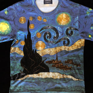 A TARMAFIA STARRY NIGHT BEADED TEE
