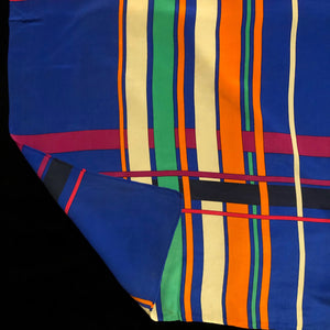 A LARGE VINTAGE 80s SILK SCARF BY YSL