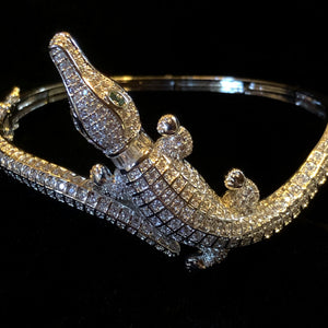 A DIAMANTÉ ALLIGATOR BRACELET