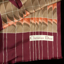 Load image into Gallery viewer, A 1980s CHRISTIAN DIOR LARGE SILK SCARF