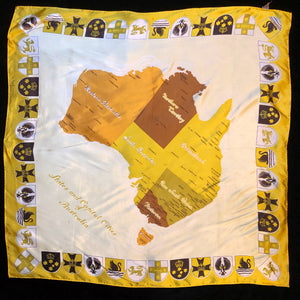 A COLLECTION OF FOUR VINTAGE AUSTRALIAN THEMED SCARVES