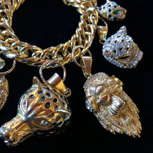 Load image into Gallery viewer, A SUBSTANTIAL GILT CAT THEMED CHARM BRACELET