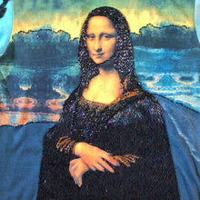 Load image into Gallery viewer, A TARMAFIA LONG SLEEVED HAND BEADED MONA LISA T SHIRT
