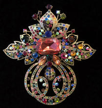 Load image into Gallery viewer, EDWARDIAN STYLE JEWELLED BROOCH