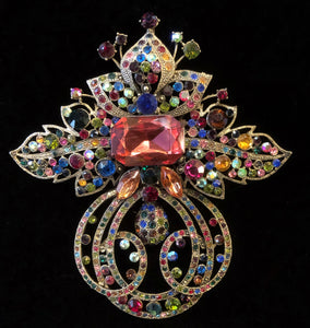 EDWARDIAN STYLE JEWELLED BROOCH
