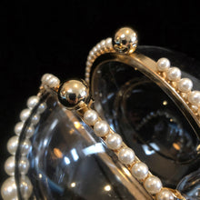 Load image into Gallery viewer, A PERSPEX SPHERICAL EVENING BAG WITH PEARLS