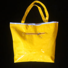 Load image into Gallery viewer, ORIGINAL 1980s PATENT SPLICED TOTE