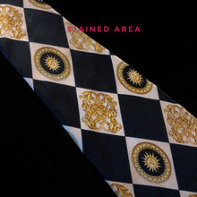 Load image into Gallery viewer, CHEQUERBOARD PRINT VINTAGE VERSACE SILK TIE
