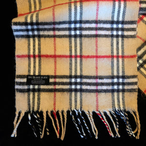 A CASHMERE BURBERRYS 90s SCARF