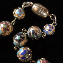 Load image into Gallery viewer, 1930s CLOISONNÉ FLORAL BEADS