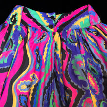 Load image into Gallery viewer, A LURID PAISLEY PRINT 80s FULL SKIRT