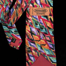 Load image into Gallery viewer, A LATE 80s VINTAGE MISSONI PAINTERLY PRINT SILK TIE