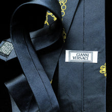 Load image into Gallery viewer, VINTAGE JACQUARD VERSACE SILK TIE
