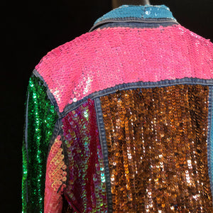 A TARMAFIA VIVID HAND SEQUINNED JACKET