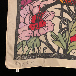 A PURE SILK MARGARET PRESTON ART SCARF