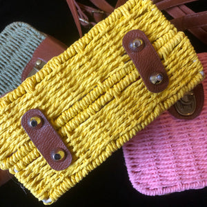 BASKETWEAVE MINI CASE BAG
