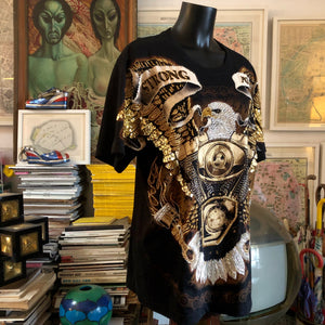 TARMAFIA BEADED EAGLE T SHIRT