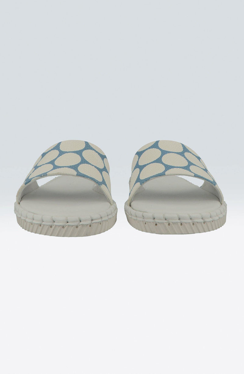 "Madhoo Dots ""Blue/White"" - Chaaya Shoes® Luxury Worldwide Brand"