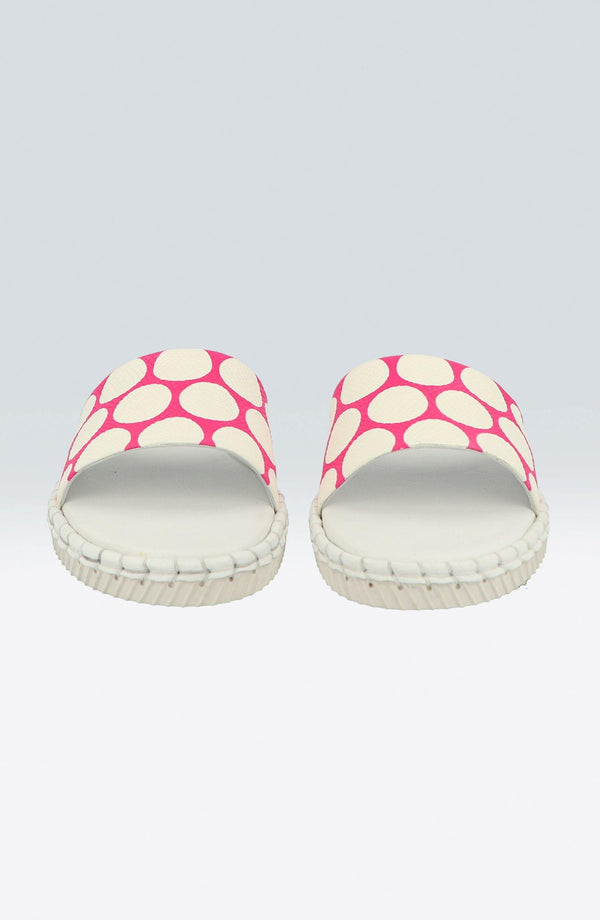 "Madhoo Dots ""Pink/White"" - Chaaya Shoes® Luxury Worldwide Brand"