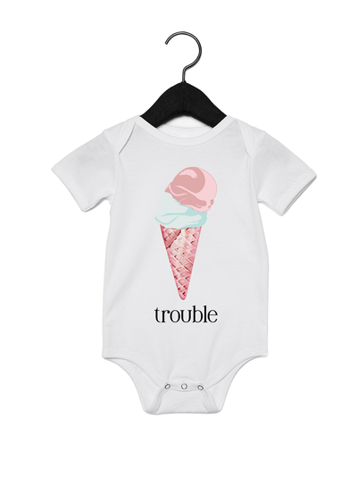 (Double) Trouble Onesie - Direct Embroidery
