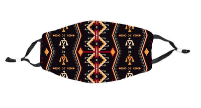 Aztec Pattern Face Mask - Direct Embroidery