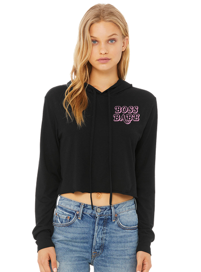 Boss Babe Cropped Hoodie - Direct Embroidery