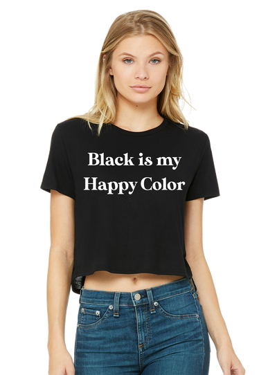 Black is my Happy Color Crop - Direct Embroidery